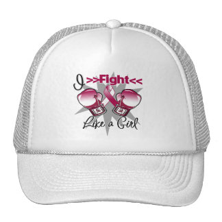 Throat Cancer I Fight Like a Girl With Gloves Cap