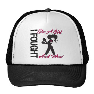 Throat Cancer I Fought Like A Girl and Won Trucker Hats
