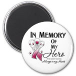 Throat Cancer In Memory of My Hero 6 Cm Round Magnet