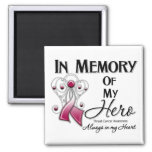 Throat Cancer In Memory of My Hero Square Magnet