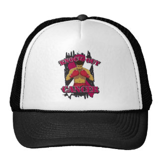 Throat Cancer Knock Out Cancer Mesh Hat
