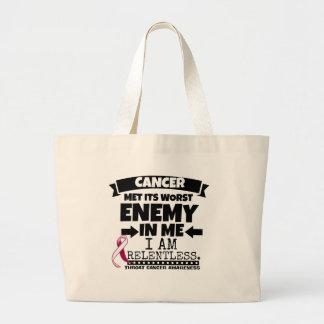 Throat Cancer Met Its Worst Enemy in Me Jumbo Tote Bag