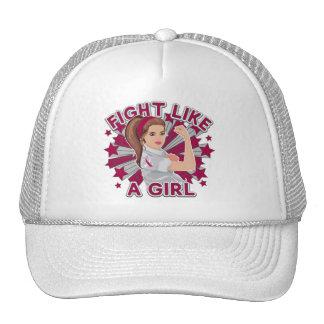 Throat Cancer Modern Rosie Fight Cap