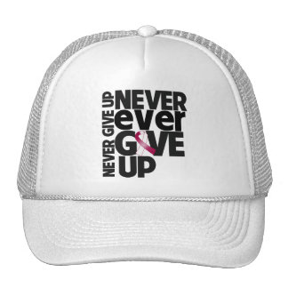 Throat Cancer Never Ever Give Up Mesh Hat