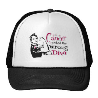 Throat Cancer Picked The Wrong Diva Trucker Hat