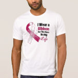 Throat Cancer Ribbon Hero in My Life T-shirt