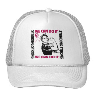 Throat Cancer Standing Strong We Can Do It Cap