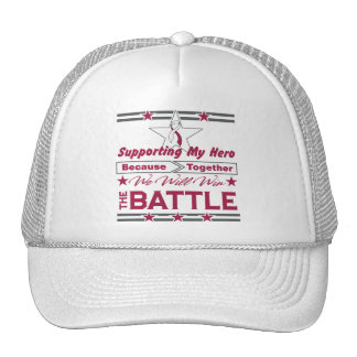 Throat Cancer Supporting My Hero Hat