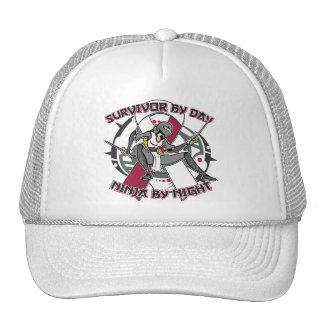 Throat Cancer Survivor By Day Ninja By Night Trucker Hat