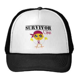 Throat Cancer Survivor Chick Hat