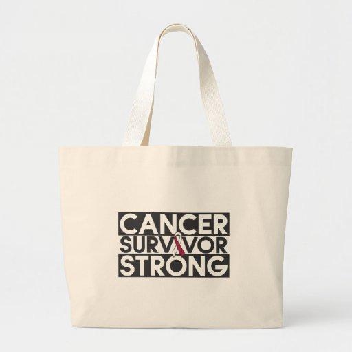Throat Cancer Survivor Strong Canvas Bags