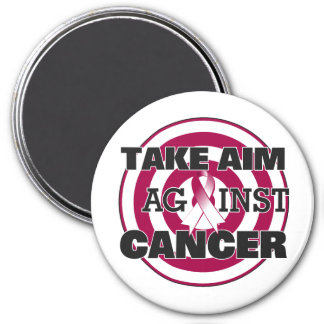 Throat Cancer Take Aim Against Cancer 7.5 Cm Round Magnet