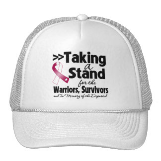Throat Cancer Taking a Stand Tribute Cap