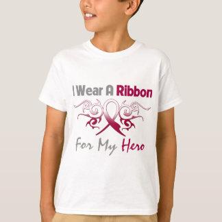 Throat Cancer Tribal Deco Ribbon Hero T Shirts