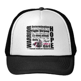 Throat Cancer Warrior Fight Slogans Trucker Hat