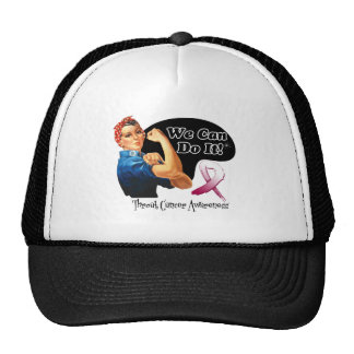 Throat Cancer We Can Do It Rosie The Riveter Cap