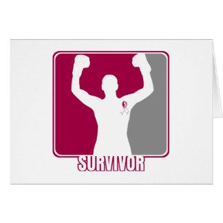 Throat Cancer Winning Survivor Greeting Card
