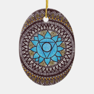 Throat Chakra Mandal Christmas Ornament