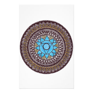 Throat Chakra Mandal Stationery