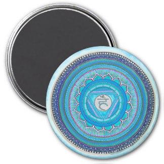 Throat Chakra Mandala Magnet