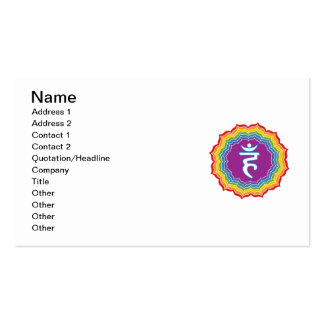 Throat chakra pack of standard business cards