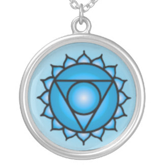 Throat Chakra Sterling Silver Plate Necklace