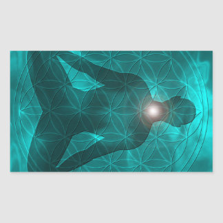Throat Chakra Vishuddha Rectangular Sticker