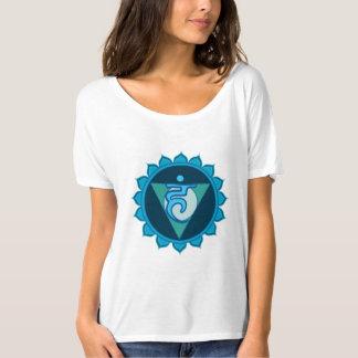 Throat Chakra Visuddha Blue Women's T-Shirt, White T-Shirt