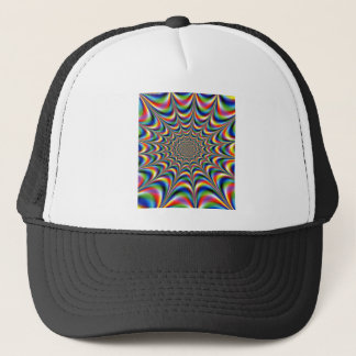 throbbing-fractal-optical illusion trucker hat