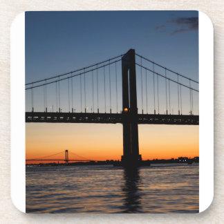 Throggs Neck and Whitestone Bridge Sunset Coaster