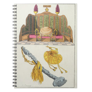 Throne of a Chinese Emperor, Yo-yo sceptre and cap Notebooks