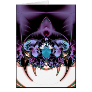 throne of the dark faerie greeting card