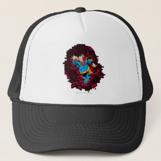 Through a brick wall trucker hat