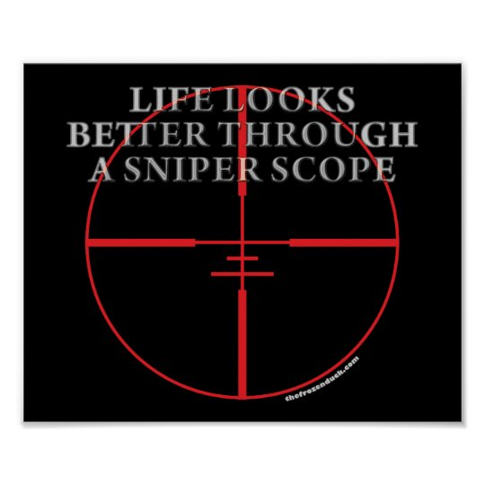 Through a Sniper Scope Poster