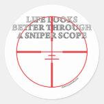 Through a Sniper Scope Sticker