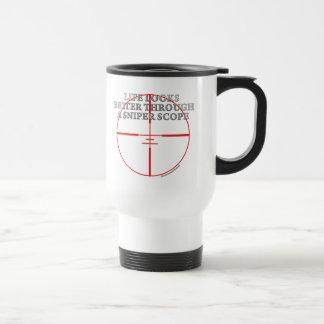 Through a Sniper Scope Travel Mug