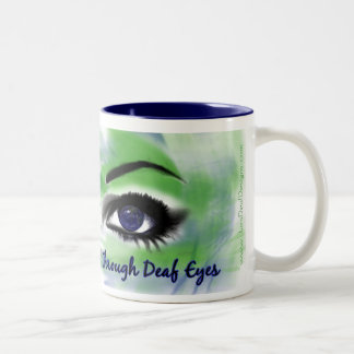 Through Deaf Eyes in color MUG
