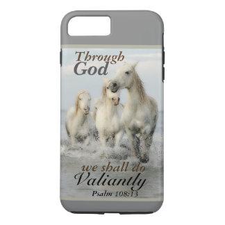 Through God we shall do Valiantly Psalm 108 Horses iPhone 8 Plus/7 Plus Case