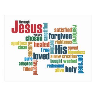 Through Jesus, you are... Postcard