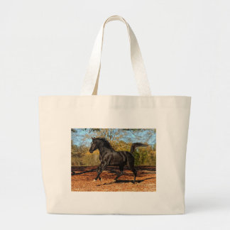 Through the Autumn leaves Large Tote Bag