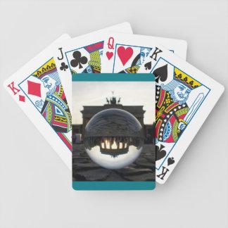 Through the crystal ball, Brandenburg Gate 001.02 Bicycle Playing Cards