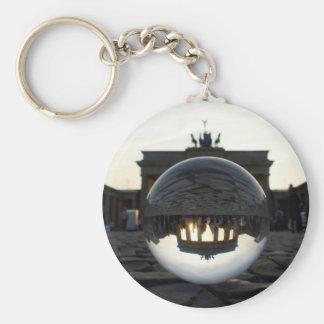 Through the crystal ball, Brandenburg Gate Basic Round Button Key Ring