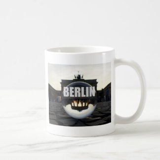 Through the crystal ball, Brandenburg Gate Basic White Mug