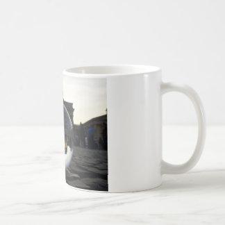 Through the crystal ball, Brandenburg Gate Basic White Mug