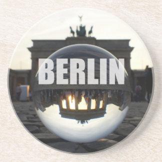 Through the crystal ball, Brandenburg Gate Beverage Coasters