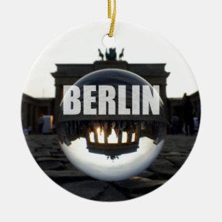 Through the crystal ball, Brandenburg Gate Christmas Ornament