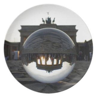Through the crystal ball, Brandenburg Gate Dinner Plates