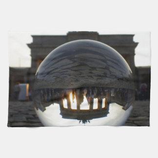 Through the crystal ball, Brandenburg Gate Hand Towel