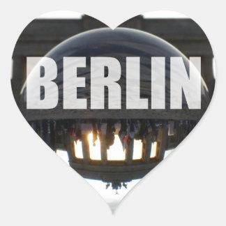 Through the crystal ball, Brandenburg Gate Heart Sticker