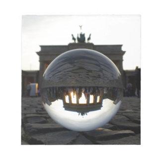 Through the crystal ball, Brandenburg Gate Memo Note Pads
